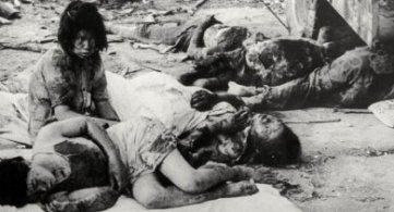 Physical and Metaphysical Effects of Nuclear Bomb on Hiroshima and Nagasaki Entities